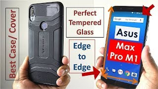 Asus Max Pro M1 Perfect Edge to Edge Tempered Glass and Best Back Cover