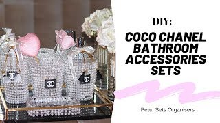 DIY: Coco Chanel Bathroom Accessories Sets Organiser 💕