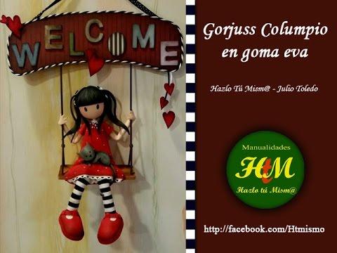 dfeccba1330 Gorjuss Columpio en goma eva - YouTube