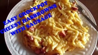 Easy Crockpot - Cheesy Hashbrown Sausage Casserole - Cook With Kevin #1