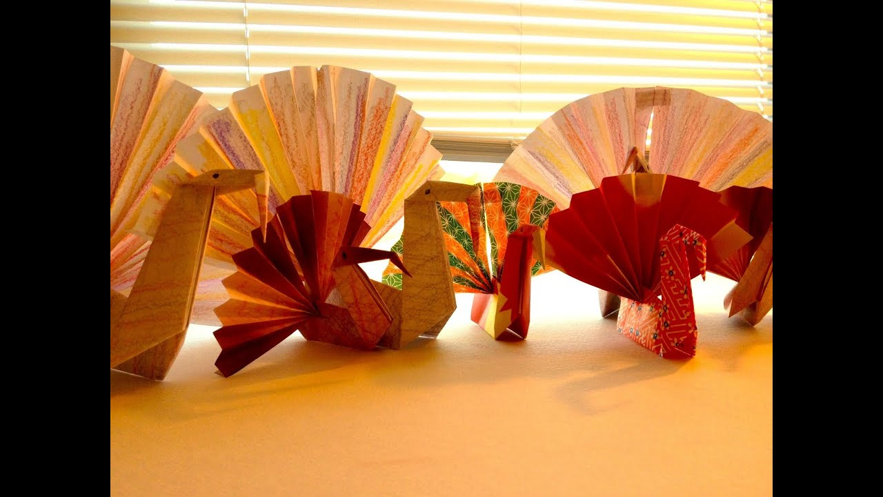 simple origami turkey for children youtube