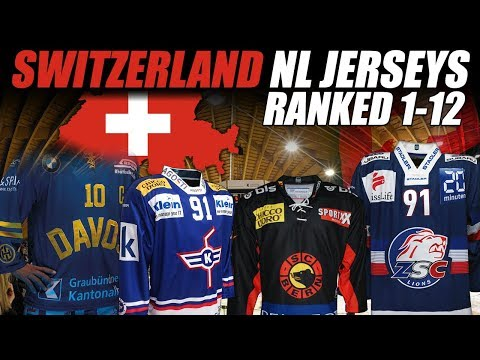 Switzerland NL Jerseys Ranked 1-12