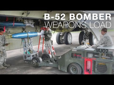 Loading Weapons Onto B-52 Bomber