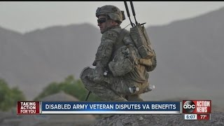 Disabled Army veteran disputes VA benefits