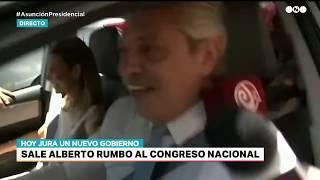 ALBERTO FERNANDEZ fue MANEJANDO hasta el Congreso para la ASUNCIÓN PRESIDENCIAL
