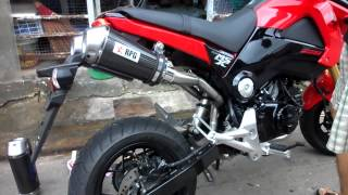 Repeat youtube video ท่อคู่ RPG Exhaust FOR HONDA MSX 125 or GROM 125