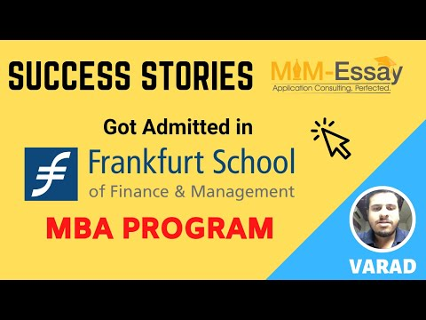 MBA Degree Review | Success Story | Frankfurt School Of Finance And Business