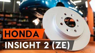 Instalação Discos de travagem traseira e dianteiro HONDA INSIGHT: vídeo manual