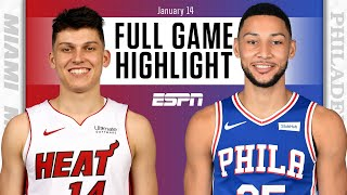 Miami Heat vs. Philadelphia 76ers [FULL GAME HIGHLIGHTS] | NBA on ESPN