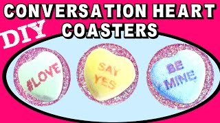 Valentine's Day Conversation Heart Candy Coaster   Another Coaster Friday Craft Klatch