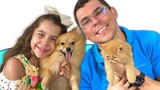 SARAH E PAPAI trocaram os seus ANIMAIS DE ESTIMAÇÃO | Sarah and Dad exchanged cat and dog pets