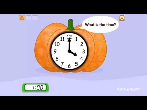 Clock   I   Teaching kids time   I    What is the time?