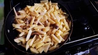 Картошка жареная с замороженными опятами