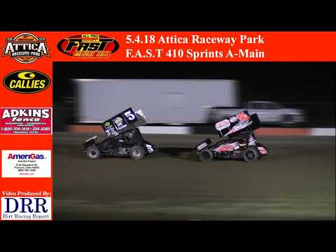 5.4.18 Attica Raceway Park 410 Sprints A-Main