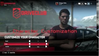 Driveclub - Character Customization