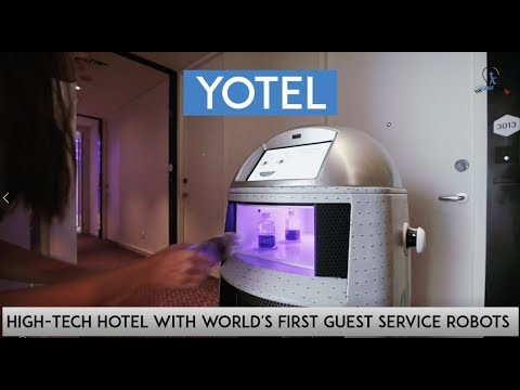 Yotel - High-Tech Hotel with World's First Guest Services Robots