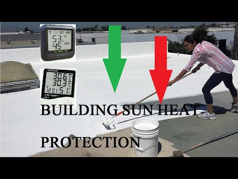 How to naturally protect building from Sun DIY method Cool Roof Technology Inverted Earthen Pots