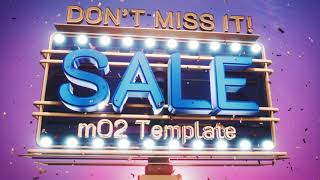 Sale on Billboards Template for mO2 Apple Motion and FCPX Plugin