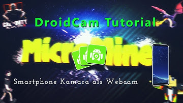 Smartphone Kamera als Webcam mit Wifi or Usb | DroidCam Tutorial