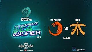 [DOTA 2 LIVE PH] TNC PREDATOR VS FNATIC |Bo2|China Dota2 Supermajor 2018 - Regional Qualifiers