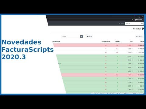 Lo nuevo de FacturaScripts 2020.3