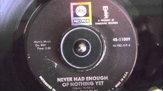 RAY CHARLES - NEVER HAD ENOUGH OF NOTHING YET
