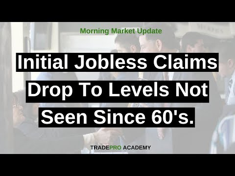 Initial Jobless Claims Drop To Levels Not Seen Since 60's.