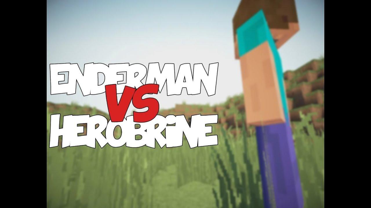 Enderman and creeper and herobrine