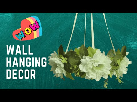 attractive-flower-wall-hanging-|-handmade-hanging-craft-ideas-|-diy-craft-ideas-|-step-by-step