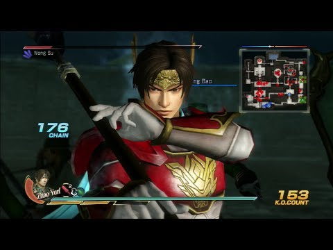 Dynasty Warriors 8 Zhao Yun Gameplay with DLC Costume Capture of Wei (Chaos Difficulty)