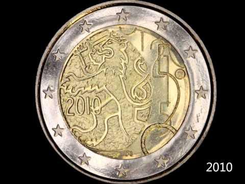 Eurocollection80 Rotation des pièces commémoratives de 2 Euro 2004 2014