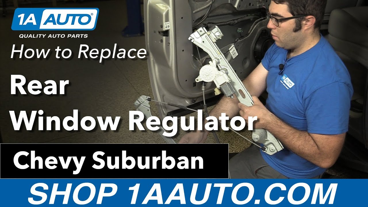 How to Replace Rear Window Regulator 07-13 Chevy Suburban