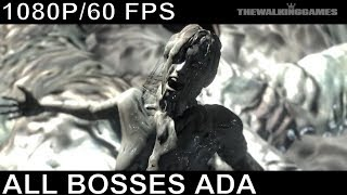 Resident Evil 6 - Ada Wong All Bosses and Ending (With Cutscenes)