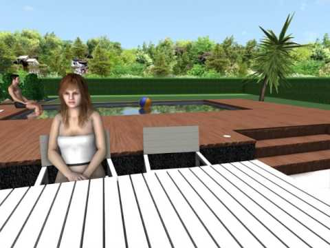 Am nagement terrasse piscine hors sol youtube - Amenagement terrasse piscine ...