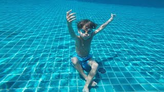 Hotel Pool Jumps Fun - Seychelles Holidays