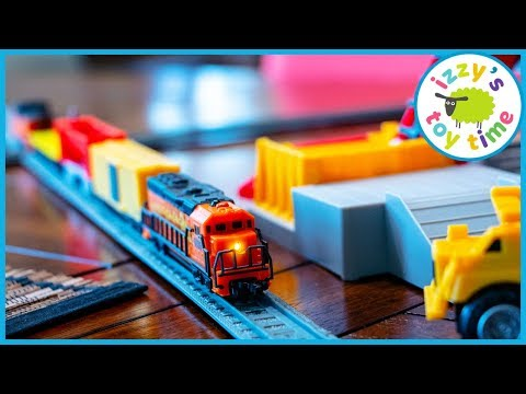 Toy Trains for Kids! POWER TRAINS QUARRY SUPER SET!