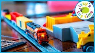 Toy Trains for Kids! POWER TRAINS QUARRY SUPER SET!