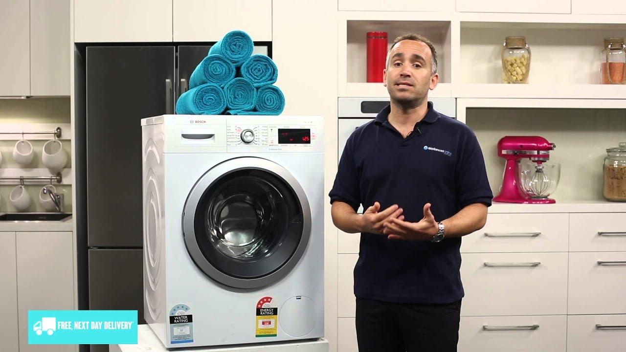bosch waw28460au 8kg front loading washing machine. Black Bedroom Furniture Sets. Home Design Ideas