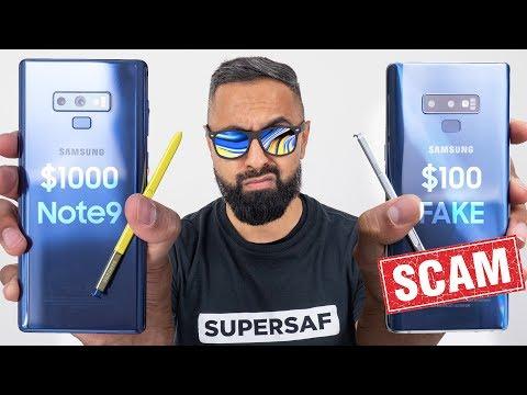 $100 Fake Galaxy Note 9 vs Real Galaxy Note 9
