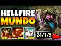 BURN YOUR ENEMIES IN SECONDS!! HELLFIRE DR. MUNDO IS FLAMING HOT - League of Legends