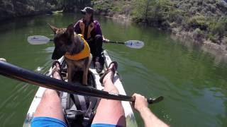 Sunday April 19th 2015 - Teaching Our Dog Venus How To Kayak