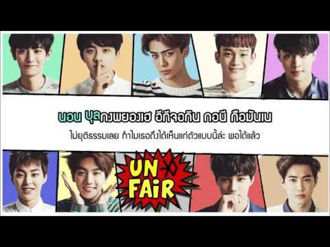 [Karaoke-Thaisub] EXO - Unfair (Korean version)