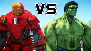 HULK VS IRON MAN (Mark XXXV Red Snapper)