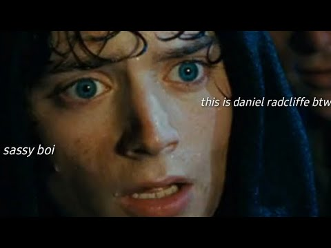 frodo baggins being a sassy boi for 3 minutes straight