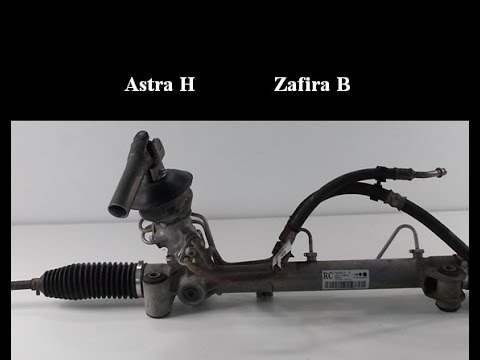 How to remove the steering rack/gear - Opel/Vauxhall Zafira B, Astra H