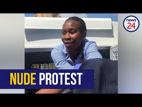 WATCH: Woman arrested after nude protest at Union Buildings