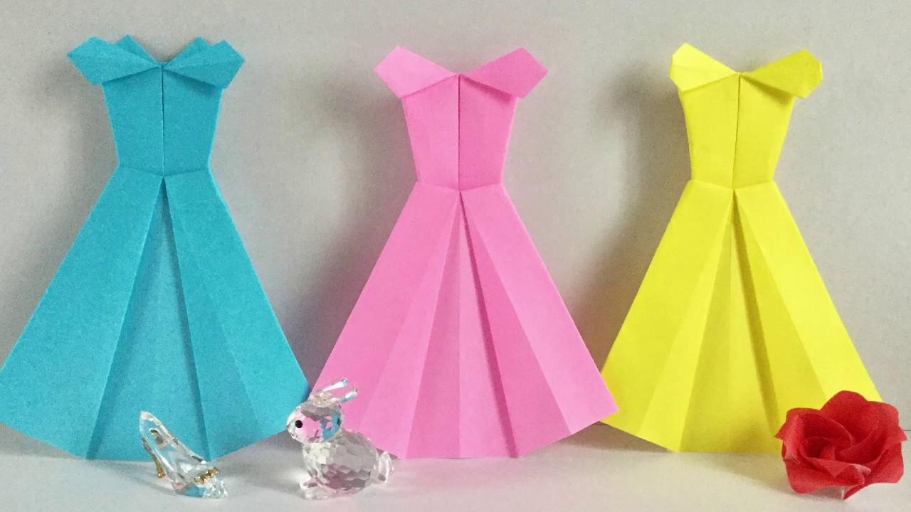 【折り紙】プリンセス達のドレス Princess dress