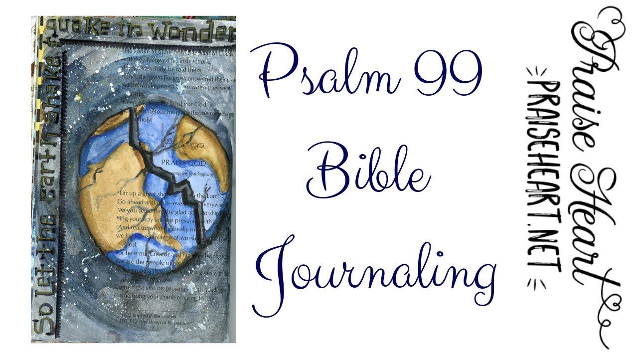 Psalm 99 Beginner Bible Journaling