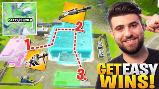 How To Get EASY Wins at Catty Corner! - Fortnite Season 3