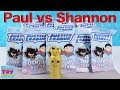 Paul vs Shannon Justice League Light Up Dog Tag Blind Bag Challenge | PSToyReviews